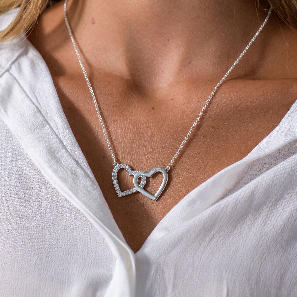 Perfektes Paket - Zirkonia Herz Halskette mit Geschenkbox und vorgedruckter Geschenknotiz - 2