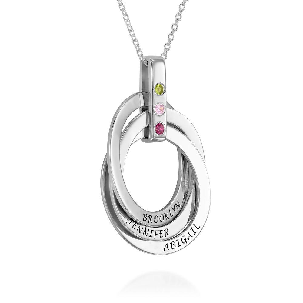 Russische Ring kette mit Geburtsstein - 2