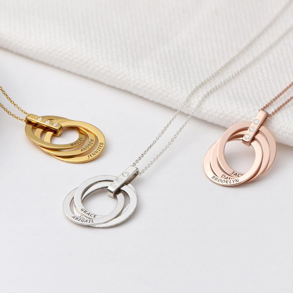 Russische Ring kette mit Diamant - 2