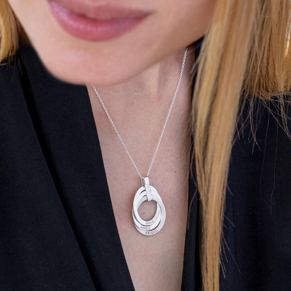 Russische Ring kette mit Diamant - 4