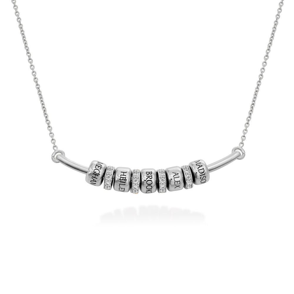 Smile-Barrenkette mit personalisierten Perlen aus Sterling Silber
