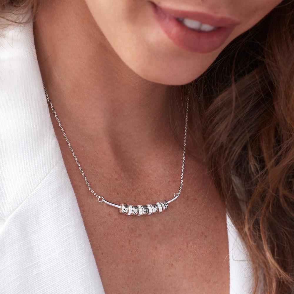 Smile-Barrenkette mit personalisierten Perlen aus Sterling Silber - 3