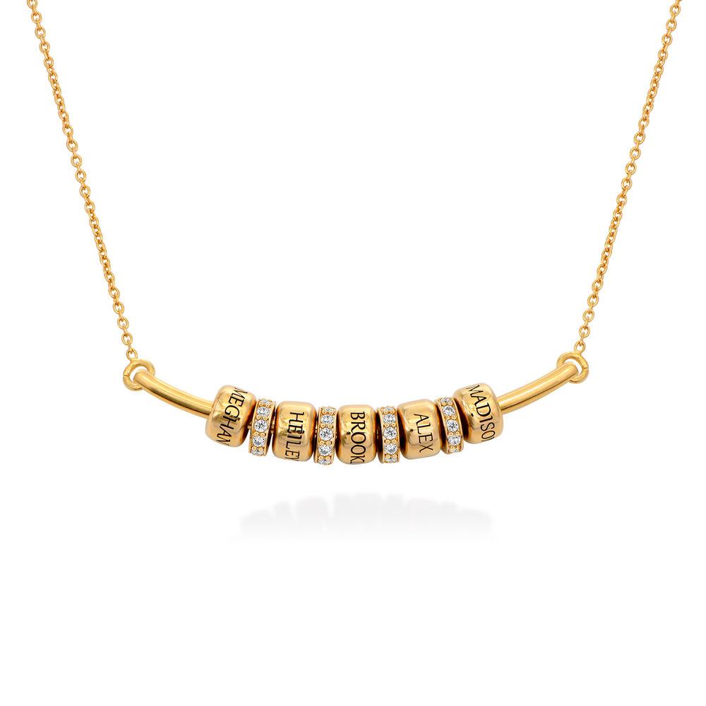 Smile-Barrenkette mit personalisierten Perlen aus Vergoldetes 925er Sterling Silber