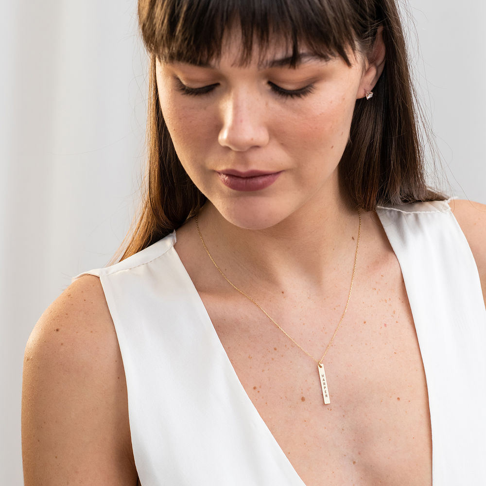 417er Gold Halskette mit graviertem Namensanhänger - 2