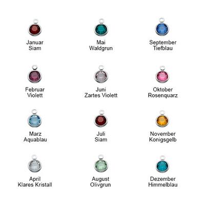 925er Silber Partnerkette mit Kristall - 2