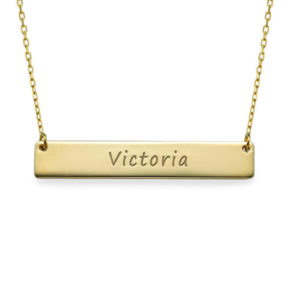 Gravierte Balkenkette in 10k Gold