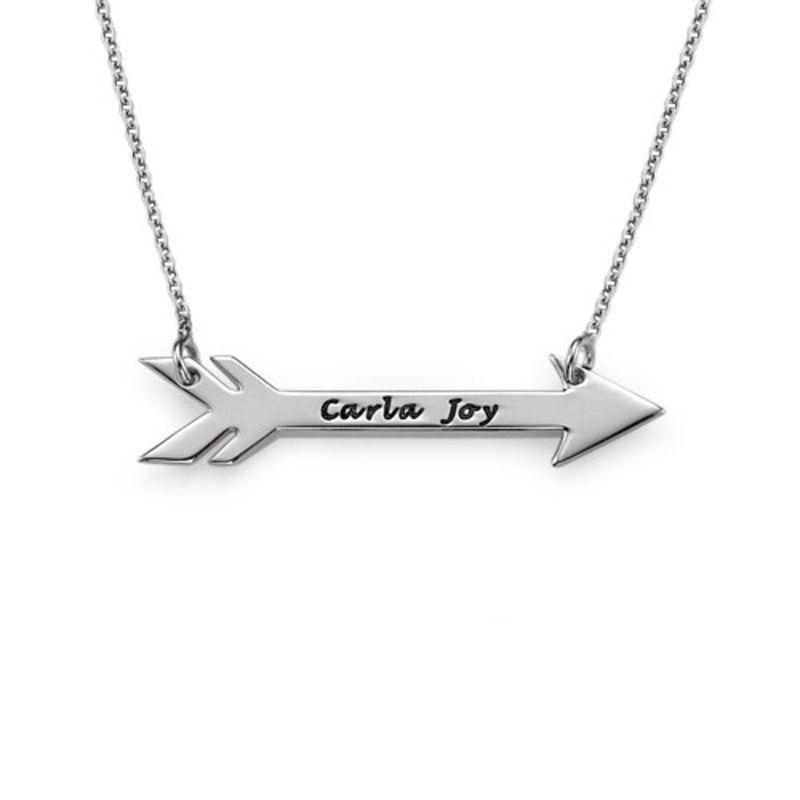 Personalisierte Pfeilkette aus Silber