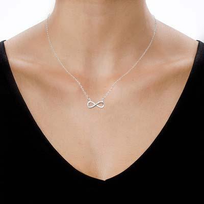 Infinity - Unendlich Halskette mit Zirkonia - 1