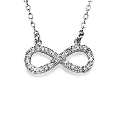Zirkonia Infinity -Unendlich Halskette