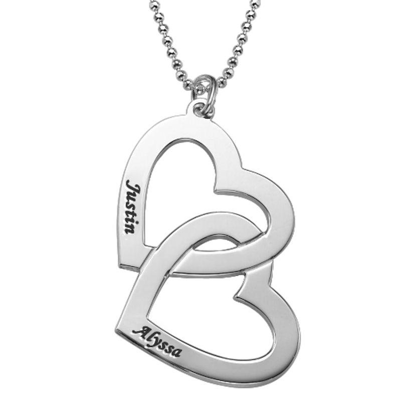 Herzen in einer Herzkette aus aus 417er-Weißgold