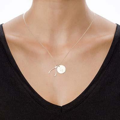 """Personalisierte """"Wishbone"""" Kette mit Buchstaben in Sterling Silber - 1"""