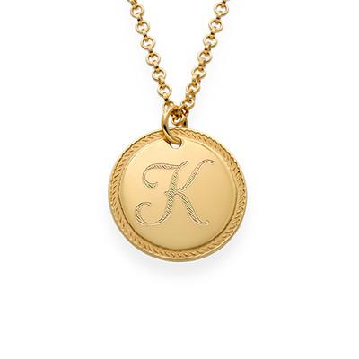 Kreisrunde Initialen-Kette mit Gold-Beschichtung