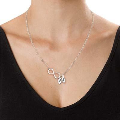 Infinity - Unendlich Halskette mit Initialen - 1