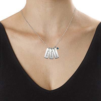 """Personalisierte  """"Dog Tag"""" Halskette mit Geburtsperle - 1"""