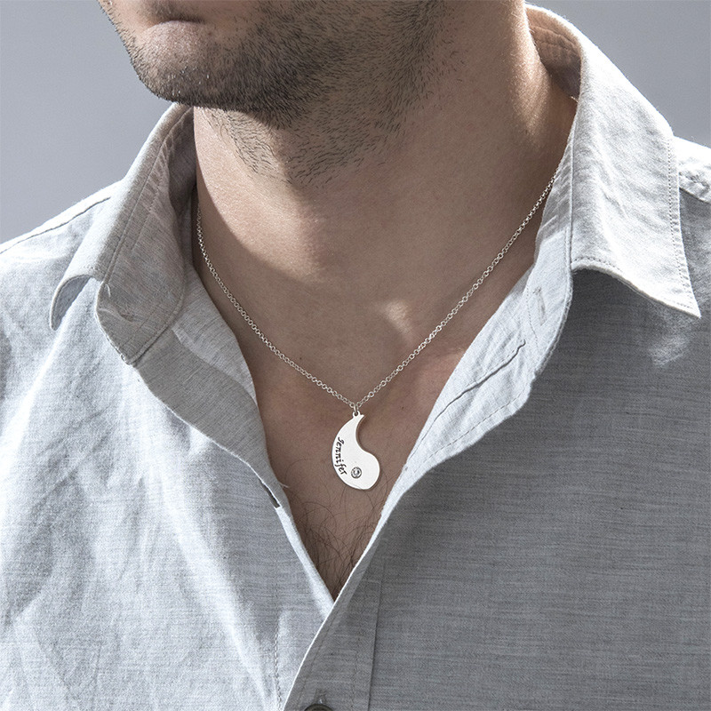 Gravierte Yin Yang Halskette für Pärchen - 3