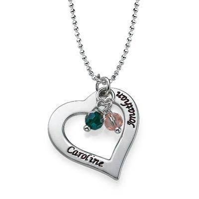 Gravierbare Herzkette aus Silber