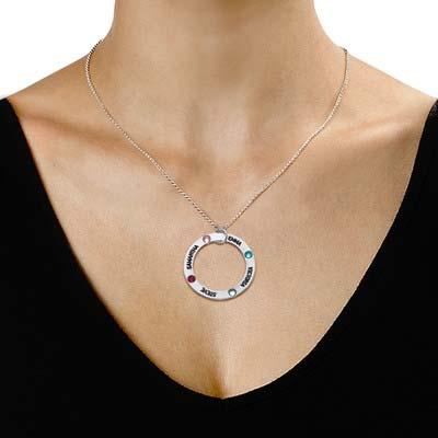 Gravierte Geburtsstein Halskette für Mütter - 1