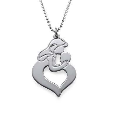 Mutter Kind Halskette aus Silber - 4