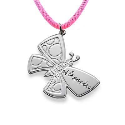 Personalisierte Schmetterlingkette aus Silber
