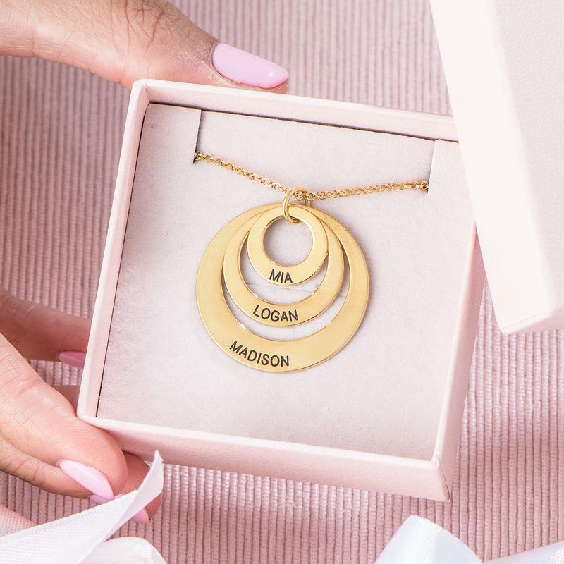 Vergoldete Halskette mit drei Ringen für Mütter Schmuck für Mütter - 6