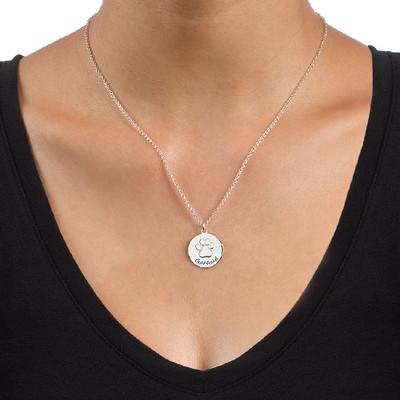 Pfotenabdruck-Halskette - 1