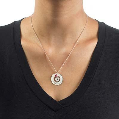 Babyfüße Halskette für Mama mit Geburtsstein - 2