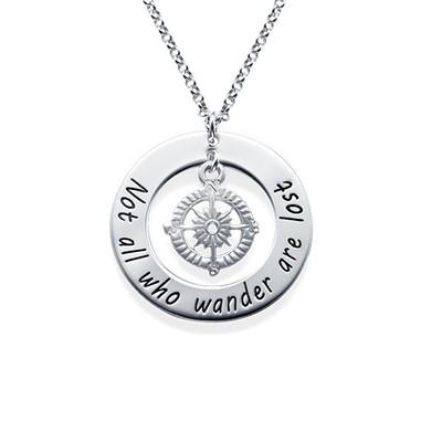 Kompass Halskette