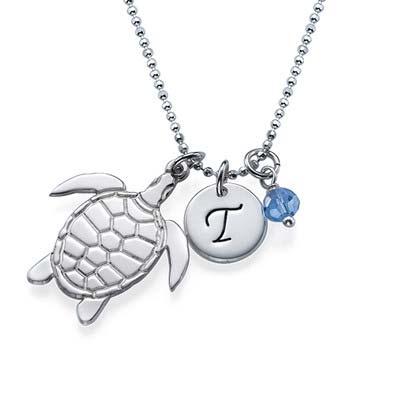 Schildkröte Initialen Kette