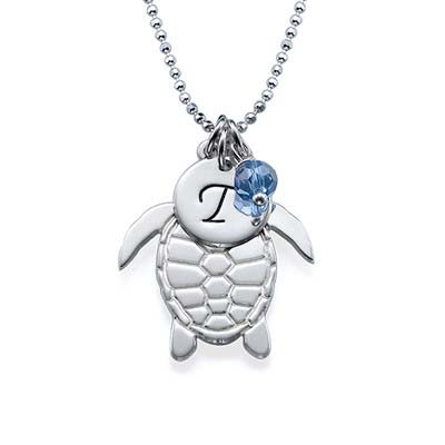 Schildkröte Initialen Kette - 1