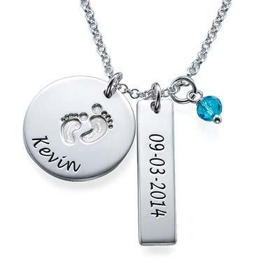 Mutterschmuck - Babyfüße Charme Halskette - 1