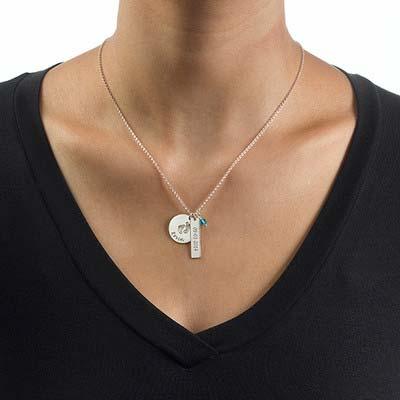 Mutterschmuck - Babyfüße Charme Halskette - 2