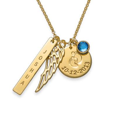 Vergoldete Charm-Halskette für Mütter