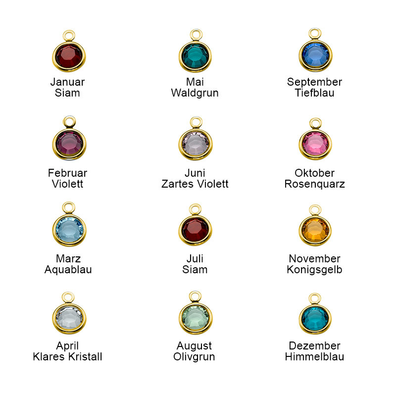 Vergoldete Charm-Halskette für Mütter - 2