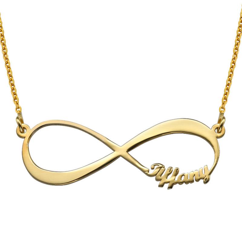 Infinity Nameskette in Gold-Vermeil - 1