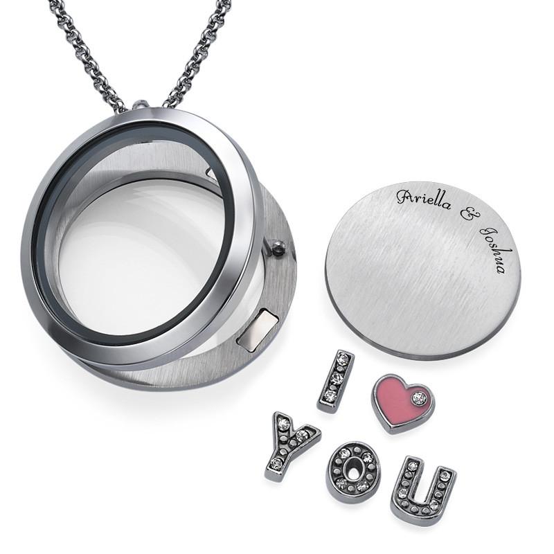 Charm Medaillon  - I LOVE YOU - 1