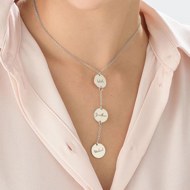 Personalisierte Y-Kette für Mama aus Sterling Silber - 3