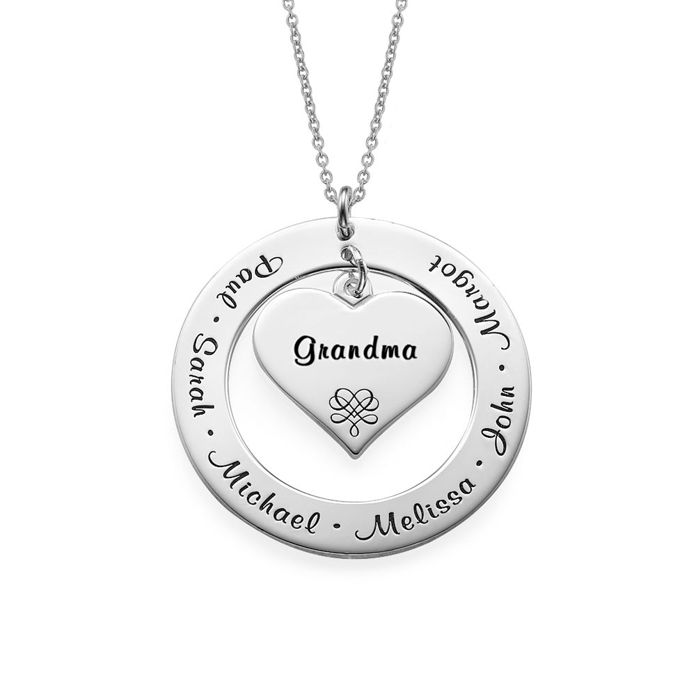 Kette für Großmütter und Mütter aus Sterling Silber