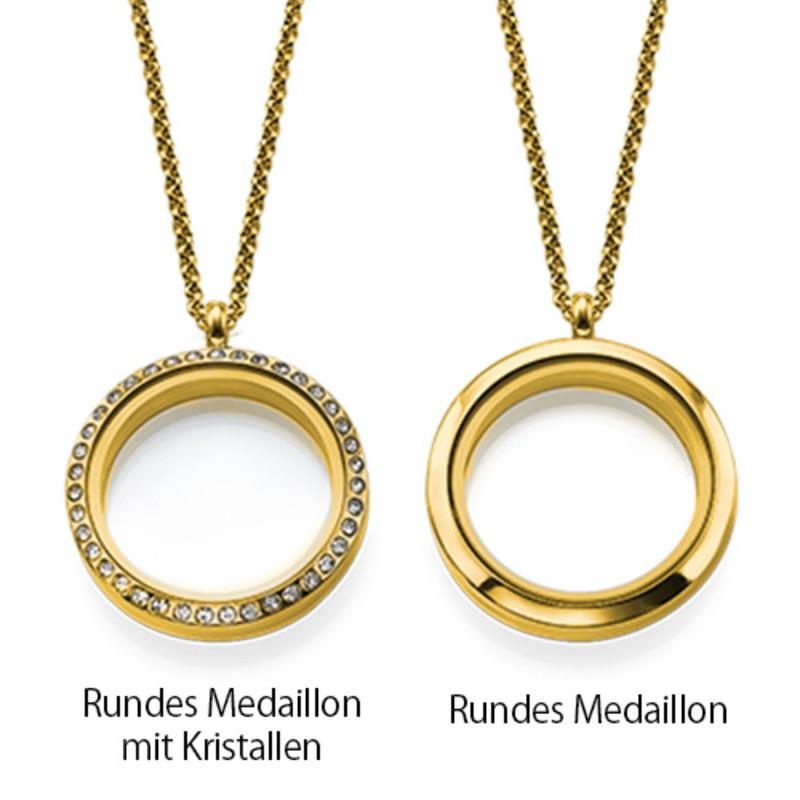 Vergoldetes Charm Medaillon für Mütter mit Kinder Charms - 3