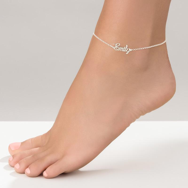 Fußkette mit Namen aus Silber - 1