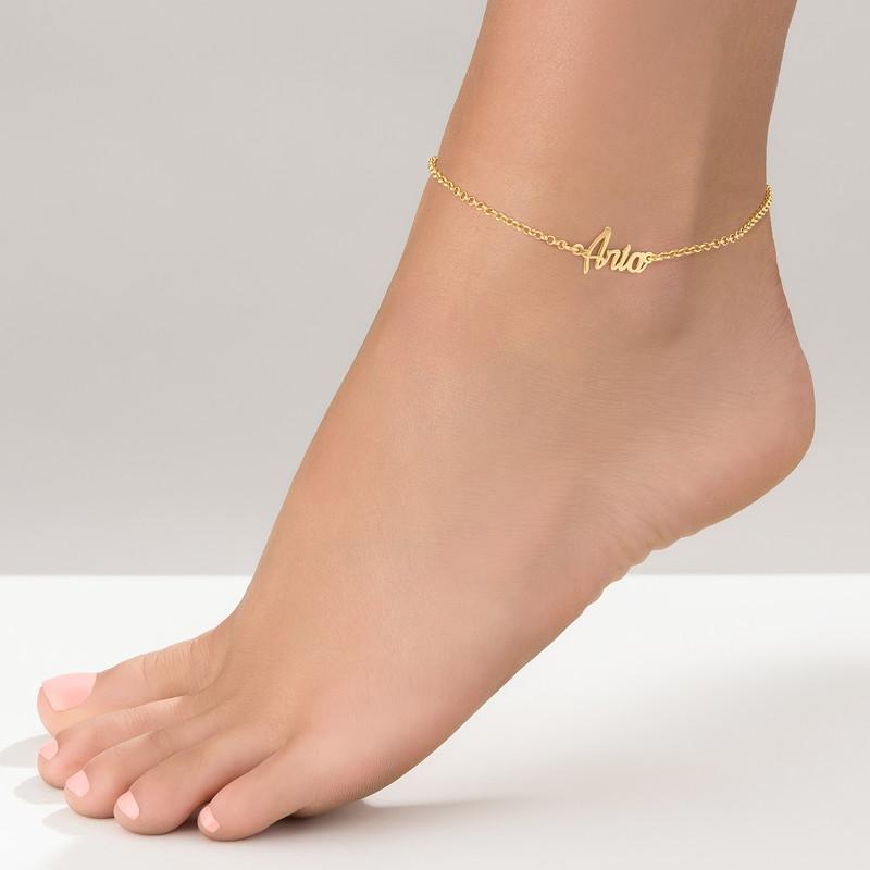 Fußkette mit Namen und Vergoldung - 1