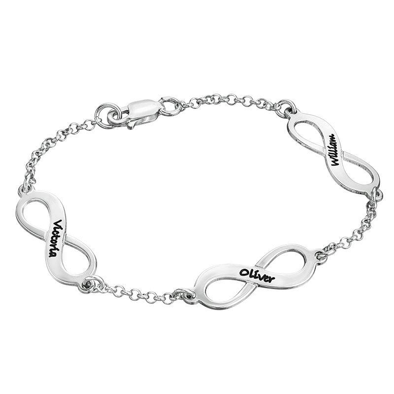 Mehrfach Infinity-Armband mit Gravur aus Silber
