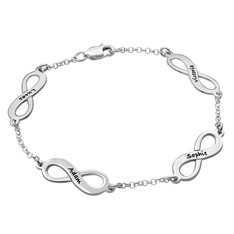 Mehrfach Infinity-Armband mit Gravur aus Silber - 2