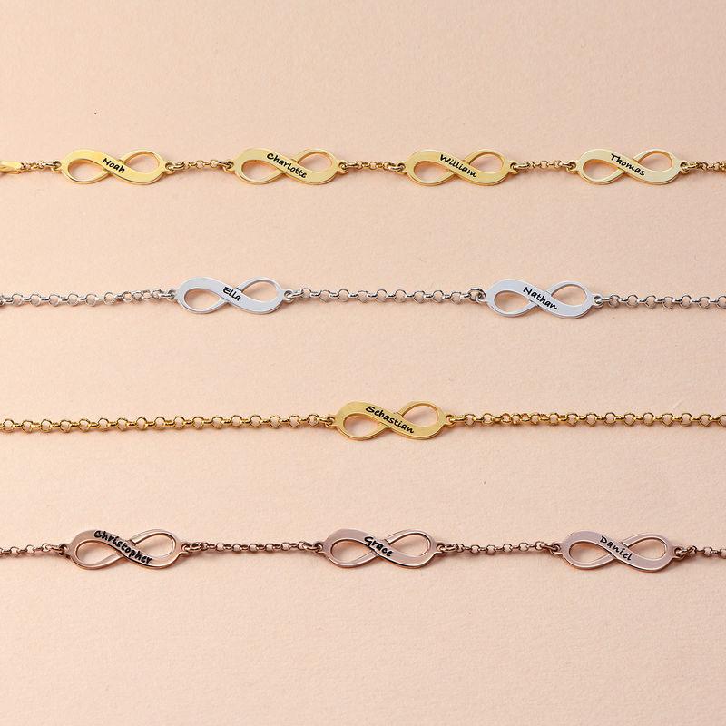 Vergoldetes Mehrere Infinity-Armband - 2