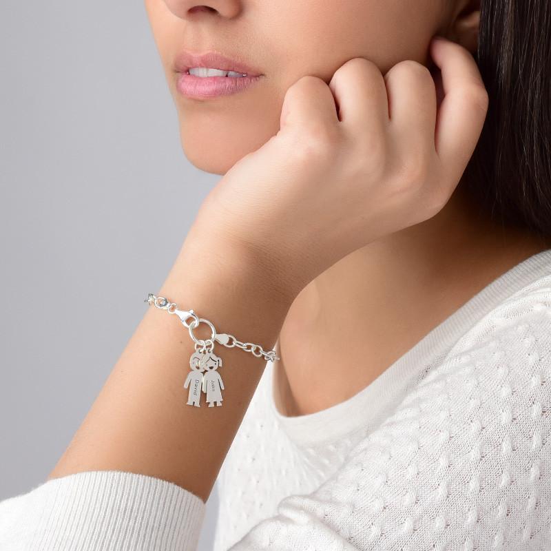 Armband mit Gravur und Kinderanhänger - 2