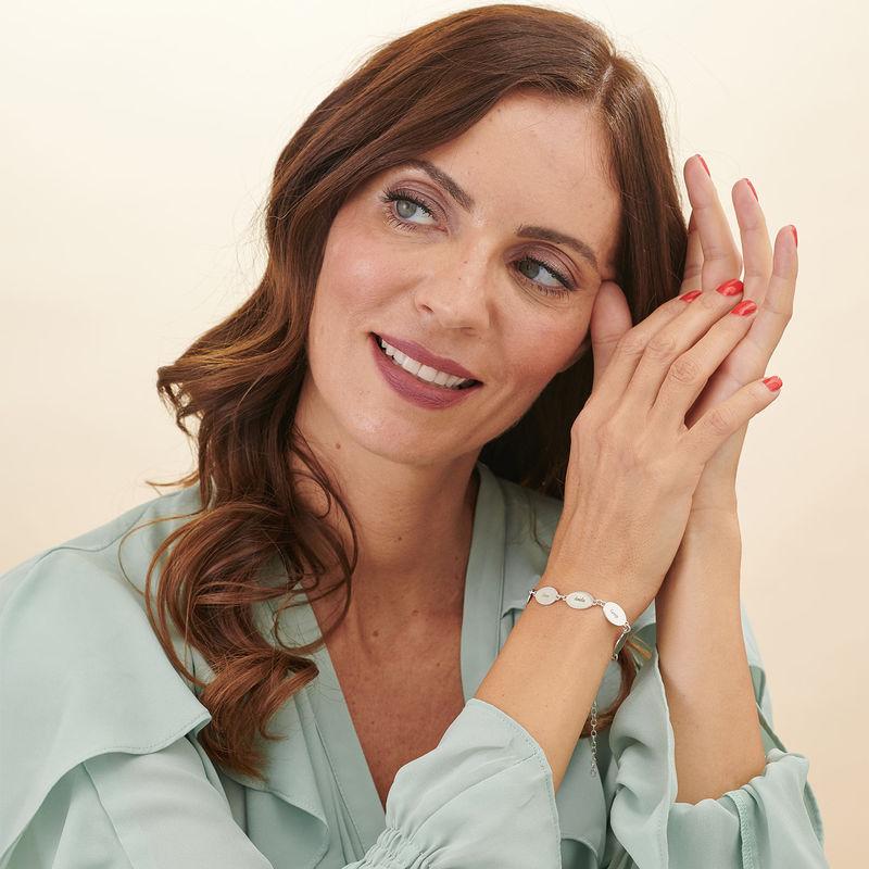 Armband mit Gravur für Mütter mit Kindernamen - ovales Design - 2