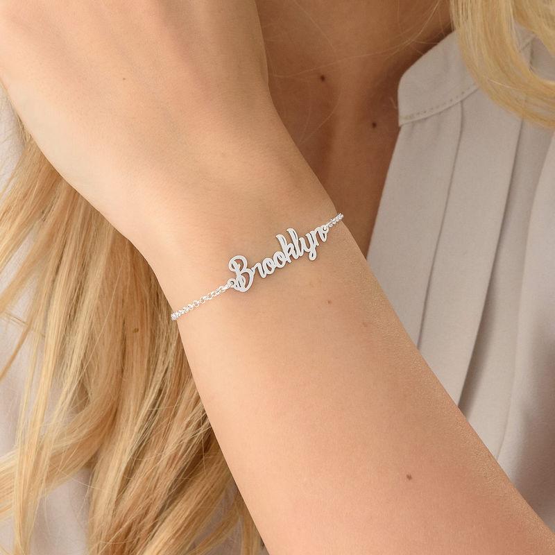 Winziges Armband mit Namen aus Silber - 2