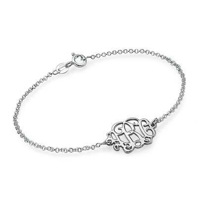 Monogramm Armband / Fußkette mit Initialen aus 925er Silber