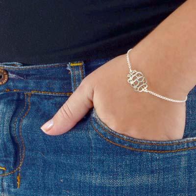 Monogramm Armband / Fußkette mit Initialen aus 925er Silber - 2