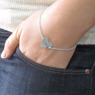 Armband mit Gravur und Herz aus Sterling Silber - 3
