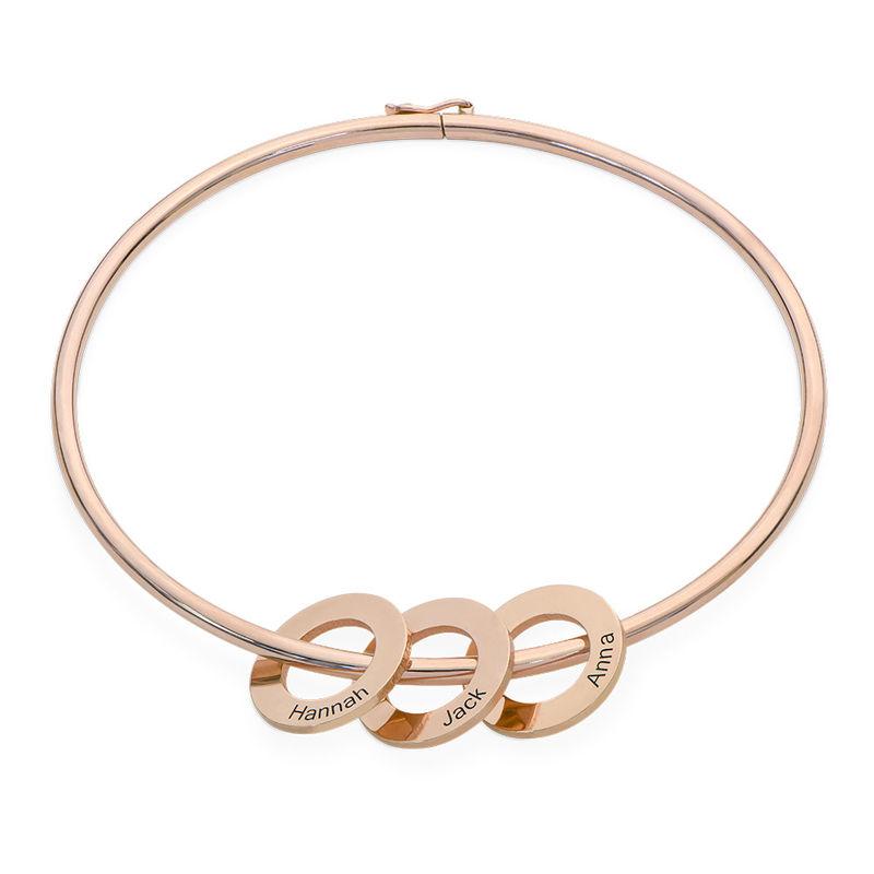 Armreif mit Kreis-Charms und Rosévergoldung - 1